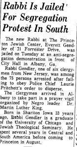 princeton packet Aug 30, 1962 Everett jailed